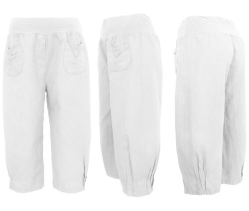 Capri-Pantaloni donna-Pantaloncini Corti Chino-Pantaloni-ariosi Leggeri Estate Pantaloncini 36-46