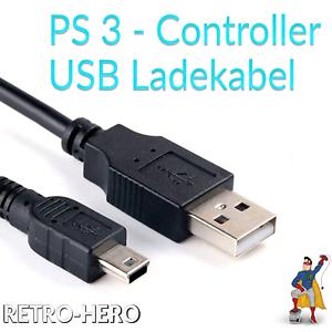 PlayStation-3-Ladekabel-USB-Kabel-Controller-Dual-Shock-PS3-Gamepad-Stromkabel
