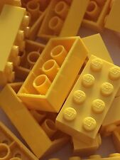 Lego 3001 New 2x4 Yellow Bricks Blocks Buildings Wall Lot Of 25pcs