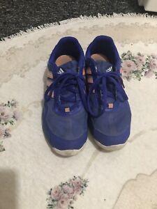 Ladies Blue Adidas Trainers Size 6 | eBay