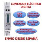 Contatore da luce Elettrico Digitale Misuratore energia LCD Lane DIN Meter