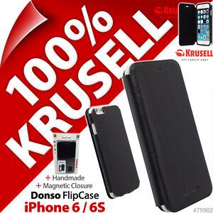 Krusell-Donso-Sintetico-Funda-de-Piel-con-Tapa-Cartera-para-Apple-Iphone-6-6S
