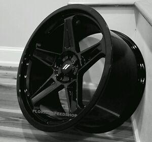 dodge demon wheels gloss black 20x9 5 20x10 5 challenger charger ebay. Black Bedroom Furniture Sets. Home Design Ideas