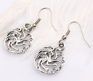 GAME OF THRONES Broche Song of Ice and Fire vintage Targaryen Pendants d/'oreilles