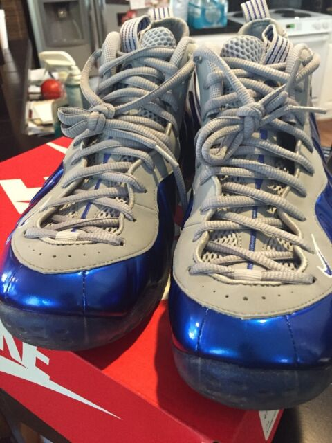 new concept a89fe 4b086 Nike Air Foamposite 1 One Sport Game Royal Blue Wolf Grey 314996-401 Size  8.5