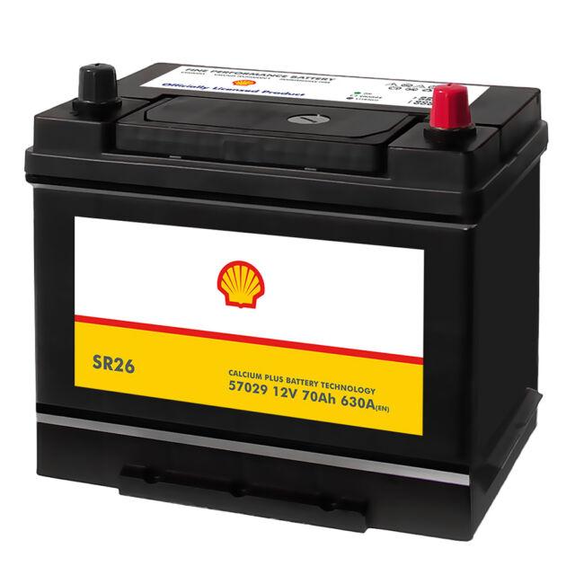 Shell SR26 Asia Autobatterie 12V 70AH Starterbatterie Plus Pol Rechts 57029
