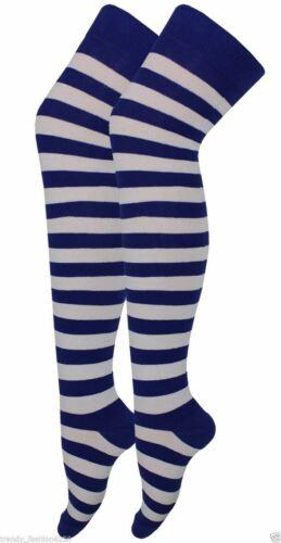 Ladies Over The Knee Stripe Socks Long High Thigh Stripe Girls Socks Fancy Dress