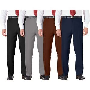 Mens-Trousers-Cotton-BHS-Brand-Work-Formal-Active-Stretch-Waist-Pockets-32-46