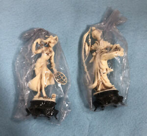 Sealed-2-Vintage-Plastic-Asian-Chinese-Figurines-by-Norleans-Made-in-Italy