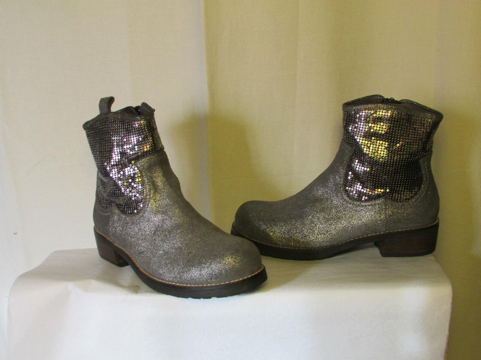Zapatos especiales con descuento boots/bottines couleur pourpre daim gris métallisé et métal 39