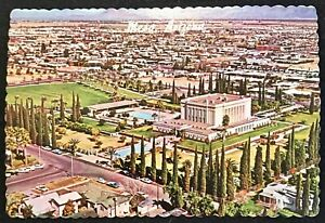 ARIZONA-Mesa-Aerial-View-of-Famous-Mormon-Temple-Grounds-Looking-East-Sent-1977
