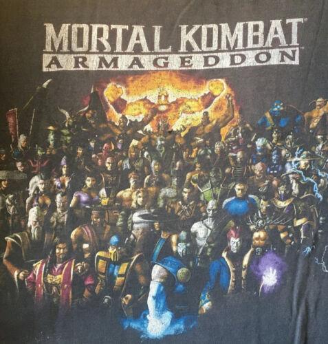 vintage mortal kombat shirt xl