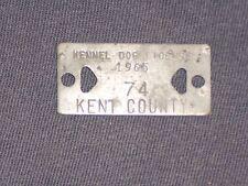 Vintage Dog Tax Tag License Kent County Michigan MI year 1965  #74          DM25
