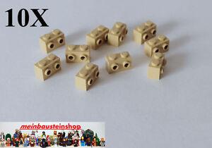 10X-Lego-11211-Konverter-Stein-1X2-Beige-Sandfarben-m-seitliche-Noppen-NEU