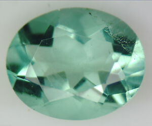 1.34 CT 100% NATURAL GREEN FLUORITE OVAL FACETED CUT GEMSTONE 6 X 7 MM LOOSE