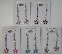 Wholesale Jewelry Lot 6 Pairs Silver Plated Drop Dangle Fashion Earrings 388