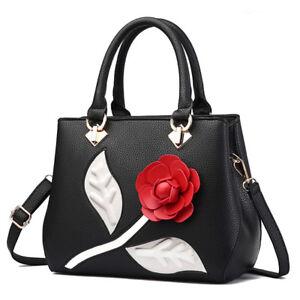 Borsa-donna-baule-manici-tracolla-nero-rosso-elegante-grande-simil-pelle-2042