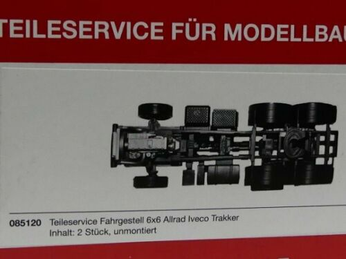 1//87 Herpa Fahrgestell 6x6 Allrad 3-Achs Iveco Trakker 2 Stück 085120