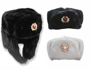 RUSSISCHE-USCHANKA-PELZMUTZE-FELLMUTZE-ARMEE-USHANKA-WINTERMUTZE-SCHAPKA