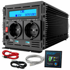 Spannungswandler DC 12V 24V AC 230V Wechselrichter 3000W 6000W USB RV EDECOA