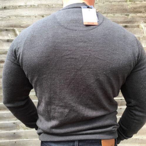 Amies 100 Crewneck Jumper Wool Mens Lightweight Charcoal Merino Hardy Small xBf1qx