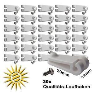 30-x-Laufhaken-fuer-Seilspannmarkise-2-mm-Edelstahlseil-Wintergarten-Beschattung