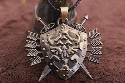 Legend of Zelda Link Hylian Shield Links Logo Metal Necklace Pendant Cosplay