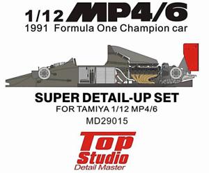 1-12-MP4-6-1991-Formula-One-Champion-Car-Super-Detail-Set-for-Tamiya-kit