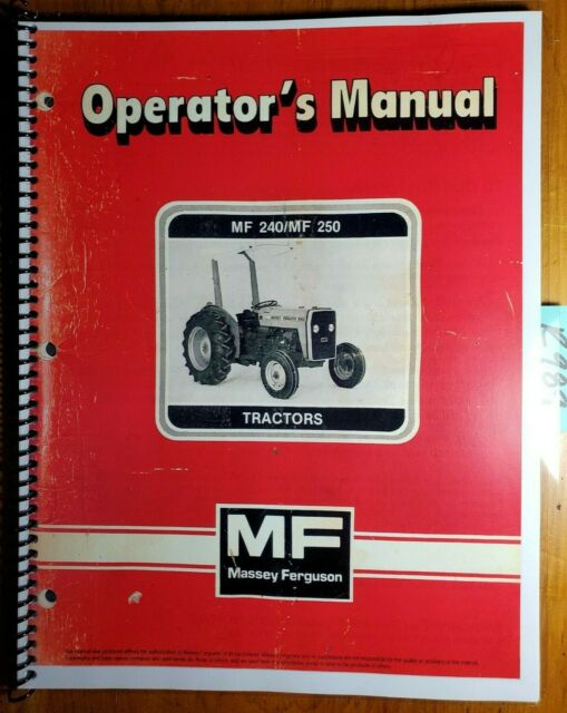 Massey Ferguson Mf 240 Mf 250 Tractor Operators Manual Original 1985 1449050m5 For Sale Online Ebay