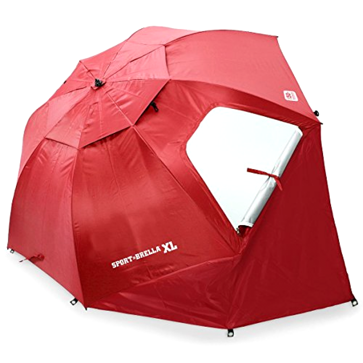 nuovo Xgree Beach Umbrella Summer Shade Maximum Sun Prossoection Shelter, Deep rosso