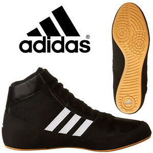 Details about adidas Havoc Kids Boxing Boots Boys Wrestling Trainers Black Sneakers AQ3327