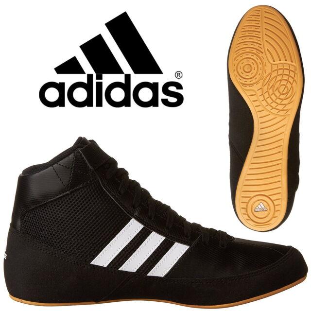 c4fdb4fa0a34 adidas Havoc Kids Boxing Boots Boys Wrestling Trainers Black Sneakers AQ3327