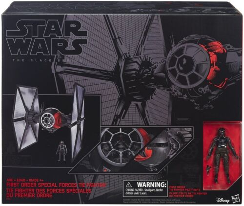 Star Wars The Black Series First Order Special Forces TIE Fighter Huge Massive!