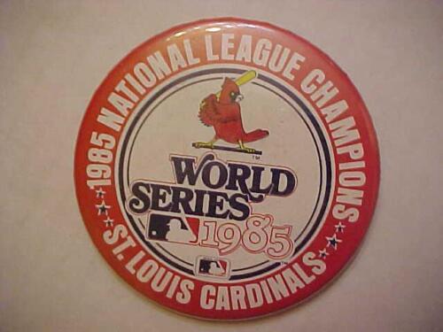 1985 St L CARDINALS National League Champions 3.25 inch PINBACK BUTTON