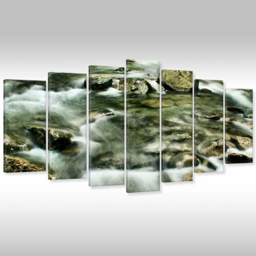 Imagen del lienzo canvas muro imagen keilrahmenbild naturaleza paisaje montañas bach en el bosque