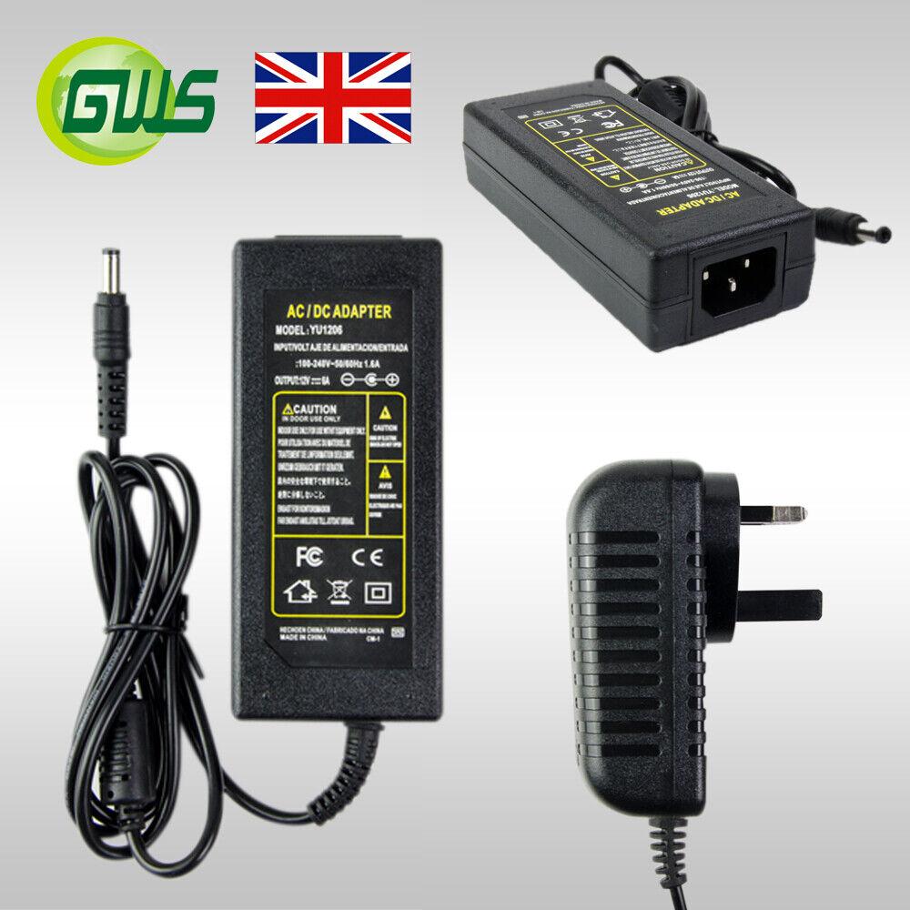 12V 2A/4A/6A 24W/48W/72W Power Supply AC to DC Adapter For LED Strip Light/CCTV