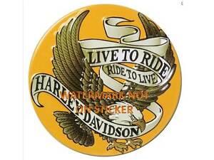 VINTAGE-HARLEY-DAVIDSON-LIVE-TO-RIDE-DECAL-STICKER-LABEL-LARGE-240mm-DIA