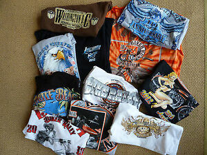 USA Harley/Indian/Triumph BIKER Small size cotton T shirts (qty6 for £20) *