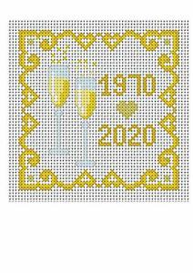 cross stitch kit golden wedding anniversary card