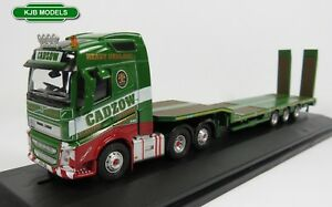 BNIB-OO-GAUGE-OXFORD-1-76-76VOL4007-VOLVO-FH4-NOOTEBOOM-SEMI-LOW-LOADER-CADZOW