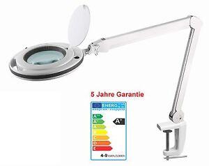 Geschenkidee LED Lupenleuchte Weißton einstellbar+dimmbar 5J.Garantie Mwst.ausw