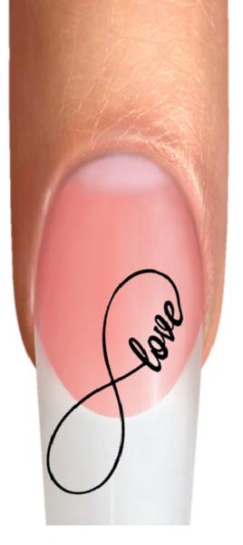 Wraps Nail Tattoos Infinity Unendlichkeitszeichen Liebe Love Herzen