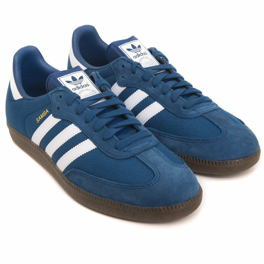Adidas Samba CP9707 Mens Boys Trainers  bluee White Gum