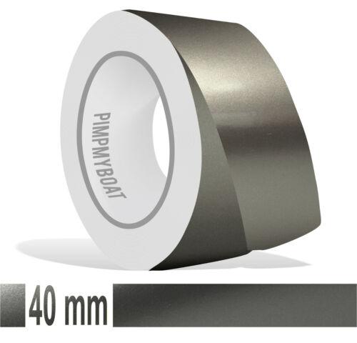 Frise 40 mm Graphite Gris Metallic 10 m voiture bateau film argent Autocollant