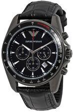 Emporio Armani Sport Leather Chronograph Mens Watch AR6097