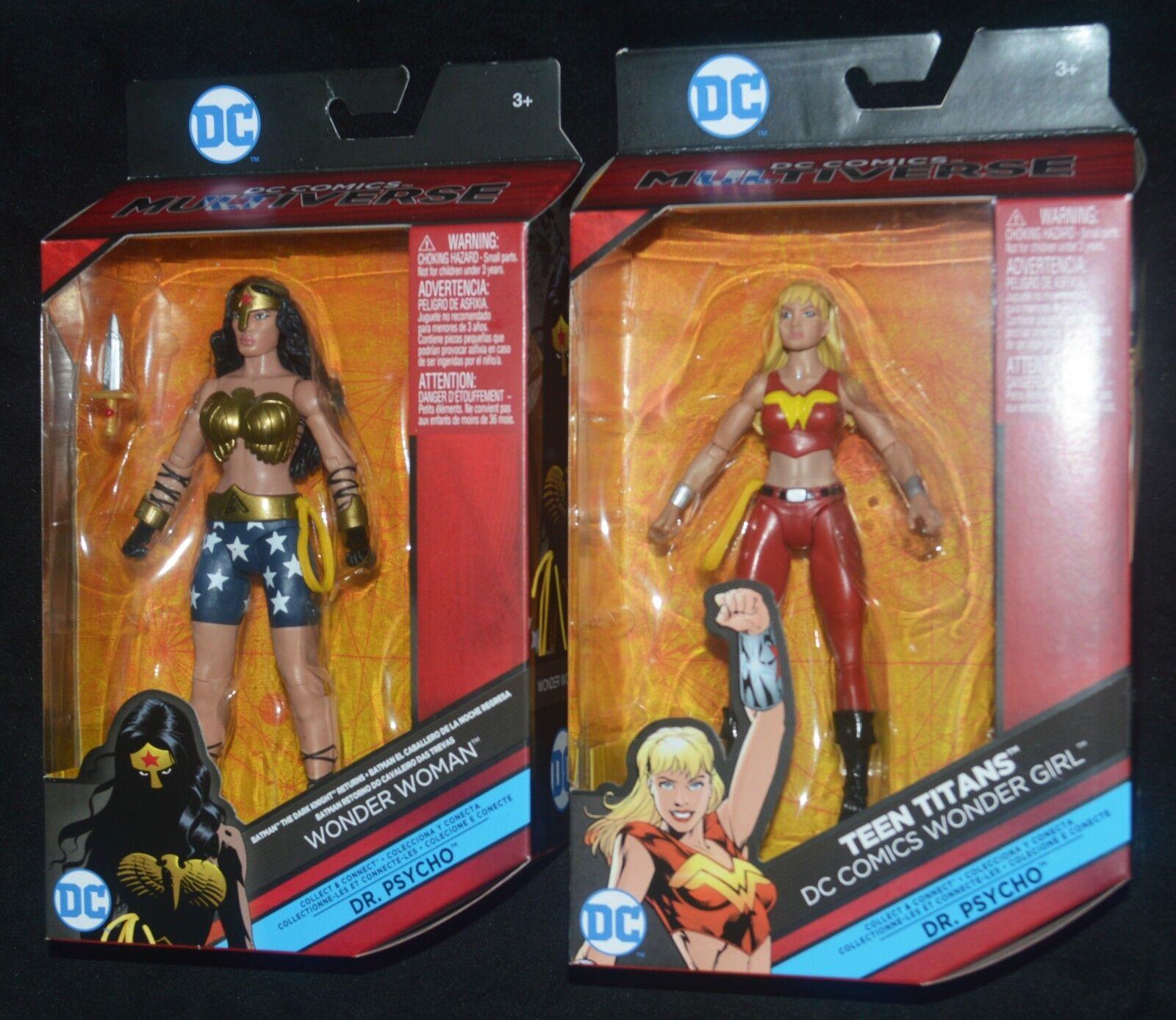 WONDER WOMAN & WONDER GIRL Dr. Psycho BAF Series DC Multiverse Teen Titans MIP