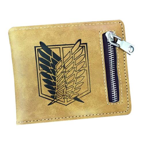 New Attack on Titan Anime Wallet Men Card Holder Wallet Coin Purse Handbags Gift