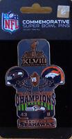 NFL Pin 2014 Super Bowl XLVIII 48 Champions Seahawks - Broncos Final Score