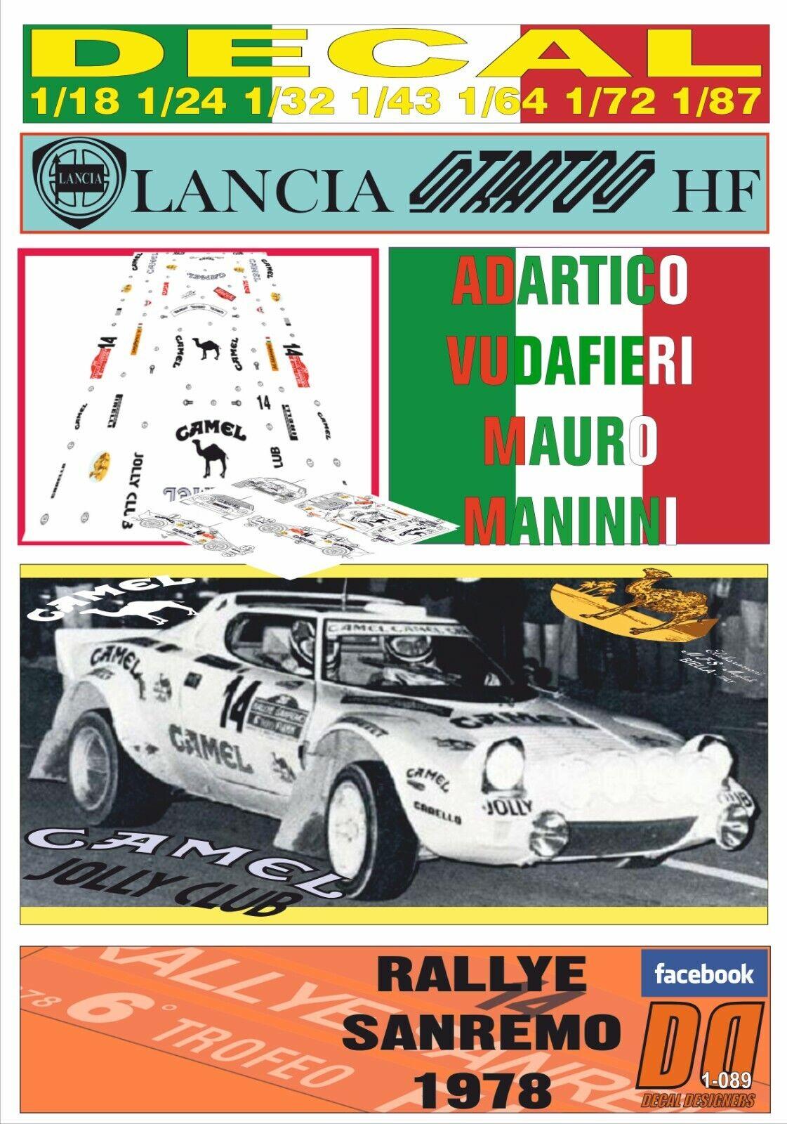 DECAL LANCIA STRATOS STRATOS STRATOS ADARTICO VUDAFIERI RALLYE SANREMO 1978 (08) f8be38