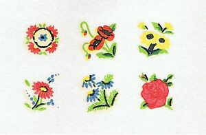 6-Sets-of-6-Miniature-Daisy-amp-Rose-Floral-Doll-039-s-House-Furniture-Transfer-Decals